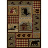 Tayse Rugs Nature Brown 5 ft. 3 in. x 7 ft. 3 in. Lodge Area Rug