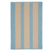 Colonial Mills Boat House Light Blue 2 ft. x 8 ft. Braided Accent Rug