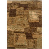 LR Resources Contemporary Light Brown and Cream Rectangle 5 ft. 3 in. x 7 ft. 5 in. Plush Indoor Area Rug