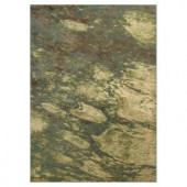 Kas Rugs Abstract Water Green/Cream 3 ft. 3 in. x 3 ft. 7 in. Area Rug