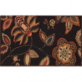 Home Dynamix Brentwood Dark Brown 19.6 in. x 31.5 in. Scatter Mat