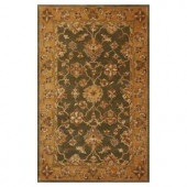 Kas Rugs Traditional Oushak Green/Gold 3 ft. 3 in. x 5 ft. 3 in. Area Rug