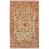 Artistic Weavers Ibrahim Gold 8 ft. x 11 ft. Semi-Worsted New Zealand Wool Area Rug