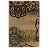 Oriental Weavers Camille Keaton Beige 1 ft. 10 in. x 2 ft. 10 in. Scatter Area Rug