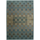 Rizzy Home Bellevue Collection Grey and Blue 7 ft. 10 in. x 10 ft. 10 in. Area Rug
