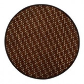 Home Decorators Collection Gibbs Black and Gold 7 ft. 9 in. Round Area Rug