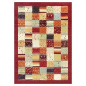 Kas Rugs Quilted Relief Red/Ivory 5 ft. 3 in. x 7 ft. 7 in. Area Rug