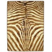 American Dakota Senegal Caramel 5 ft. 4 in. x 7 ft. 7 in. Zebra Area Rug