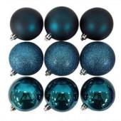70 mm Blue Ornament Balls (Pack of 18)