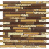 EPOCH Varietals Aligote-1650 Stone And Glass Blend Mesh Mounted Floor & Wall Tile - 4 in. x 4 in. Tile Sample