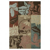 Kas Rugs Autumn Patch Taupe 3 ft. 3 in. x 5 ft. 3 in. Area Rug