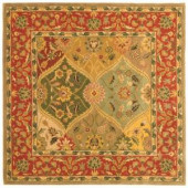 Safavieh Heritage Assorted 6 ft. x 6 ft. Square Wool Area Rug