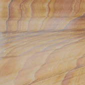 MS International Rainbow Teakwood 12 in. x 12 in. Gauged Sandstone Floor & Wall Tile