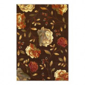 Kas Rugs Roses to Riches Mocha 2 ft. 7 in. x 4 ft. 1 in. Area Rug