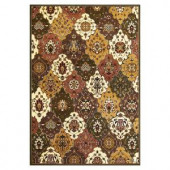 Kas Rugs Classic Panel Green/Plum 3 ft. 3 in. x 4 ft. 11 in. Area Rug