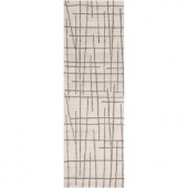 Artistic Weavers Enigma Charcoal Gray 2 ft. 6 in. x 8 ft. Runner