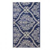 Shaw Living Belosa Blue 1 ft. 7.5 in. x 3 ft. Kitchen Scatter Rug