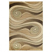 Lavish Home Waves Gold and Beige 5 ft. x 7 ft. 3 in. Area Rug