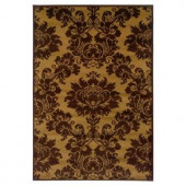 Lavish Home Traditional Yellow and Brown 5 ft. x 7 ft. 3 in. Area Rug