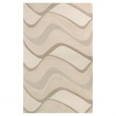 Kas Rugs Soothing Waves Ivory 2 ft. 3 in. x 3 ft. 9 in. Area Rug