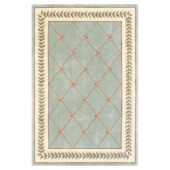Kas Rugs French Trellis Sage/Ivory 3 ft. 3 in. x 5 ft. 3 in. Area Rug