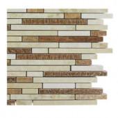 Splashback Tile Windsor 1/4 in. x Random Galil Blend Pattern Marble Mosaic Tiles - 6 in. x 6 in. Tile Sample