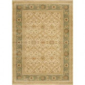 Home Dynamix Monroe Cream/Green 3 ft. 9 in. x 5 ft. 2 in. Area Rug