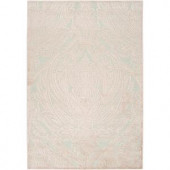 Brazil Ice Blue and Ecru 2 ft. 2 in. x 3 ft. Area Rug