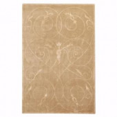 Home Decorators Collection Scrolls Brown and Gold 2 ft. x 3 ft. Area Rug