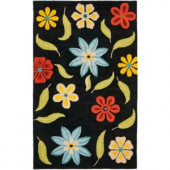 Safavieh Blossom Black/Multi 5 ft. x 8 ft. Area Rug