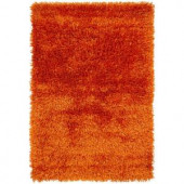 Chandra Tirish Orange 5 ft. x 7 ft. 6 in. Indoor Area Rug