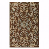 Home Decorators Collection Prescott Brown 2 ft. 3 in. x 3 ft. 9 in. Accent Rug