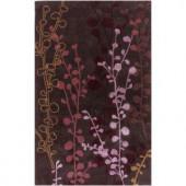 Artistic Weavers Osceola Plum 5 ft. x 8 ft. Polyester / Viscose Area Rug