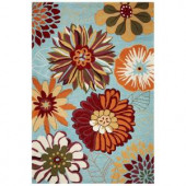 Kas Rugs Spring Fever Blue 3 ft. 3 in. x 5 ft. 3 in. Area Rug