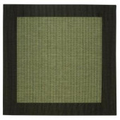 Home Decorators Collection Checkered Field Green and Black 7 ft. 6 in. Square Area Rug