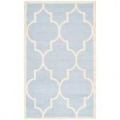 Safavieh Cambridge Light Blue/Ivory 2 ft. x 3 ft. Area Rug