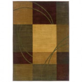 Eternity Nuance Blue and Brown 2 ft. 3 in. x 4 ft. 5 in. Accent Rug