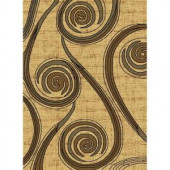 United Weavers Bodacious Cream 5 ft. 3 in. x 7 ft. 2 in. Area Rug