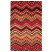 Home Decorators Collection Cheveron Red 2 ft. x 3 ft. Area Rug