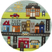 Momeni Caprice Collection Town 5 ft. x 5 ft. Round Area Rug