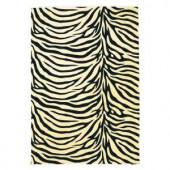Kas Rugs Zebra Beige 3 ft. 3 in. x 4 ft. 11 in. Area Rug