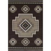 United Weavers Mountain Brown 5 ft. 3 in. x 7 ft. 6 in. Area Rug