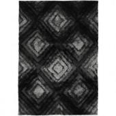 Chandra Flemish Grey/Black 7 ft. 9 in. x 10 ft. 6 in. Indoor Area Rug