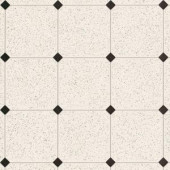 Armstrong 12 ft. Wide Royelle Sheffley Black and White Residential Sheet Vinyl