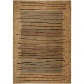 Rizzy Home Bellevue Collection Beige Striped 1 ft. 8 in. x 2 ft. 6 in. Area Rug