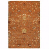 Home Decorators Collection Baroness Orange Spice 3 ft. x 5 ft. Area Rug