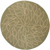 Home Decorators Collection Persimmon Green and Natural 8 ft. 6 in. Round Area Rug