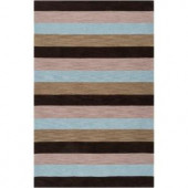 Surya Angelo:HOME Dark Olive Green 3 ft. 3 in. x 5 ft. 3 in. Contemporary Area Rug