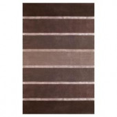 Kas Rugs Wide Stripes Silver 5 ft. x 8 ft. Area Rug