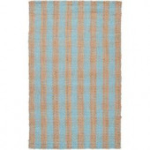 Surya Country Living Pale Blue 3 ft. 6 in. x 5 ft. 6 in. Area Rug